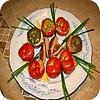Tomaat garnaal en opgevulde paprika met kruidenkaas tomates crevettes gerecht bereiden