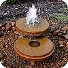 fontein, bronsteen, waterval, waterloopje, vijver, leven, water, tuin