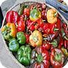 Pepers, piments , verschillende kleuren, vormen, smaken