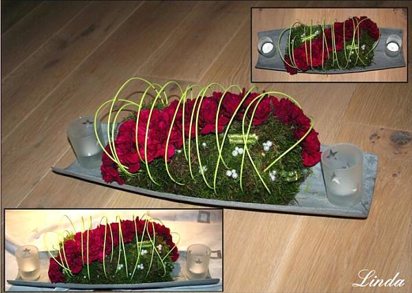 Eenvoudig bloemstukje maken voor op de feesttafel dat snel te maken is.