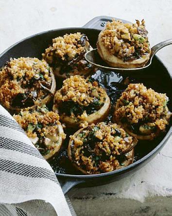 recept, gevulde champignons, gehakt, maken, kookboek, recepten, zonder kaas