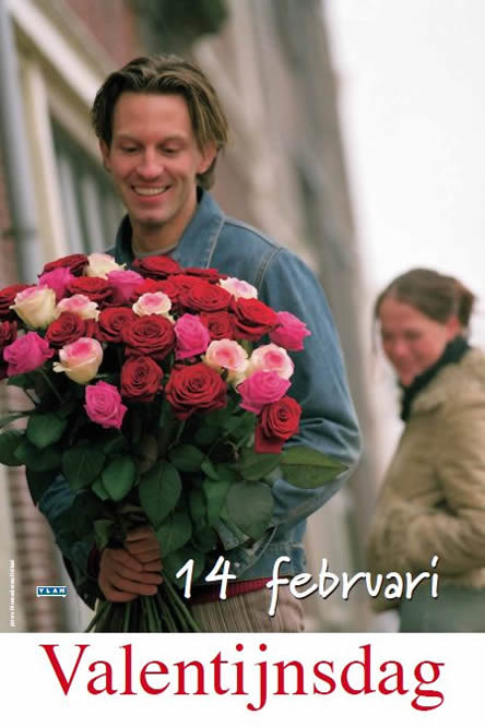 Bloemen voor valentijn, valentijnsrozen, zeg het met bloemen