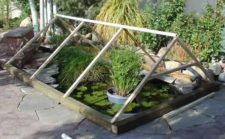 Winterbescherming voor vijvers, vijveroverkapping, verwarmde vijver isoleren, vijververwarming, waterverwarming voor vijvers