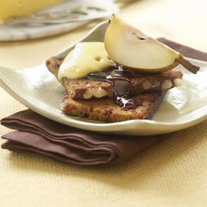 Lekkere dessertjes met peren, zelf desserts maken, dessert met peer, perendesserts, gratin van peer en peperkoek, Witlooftaart met peer, Cr�me br�l�e met snelle perencompote