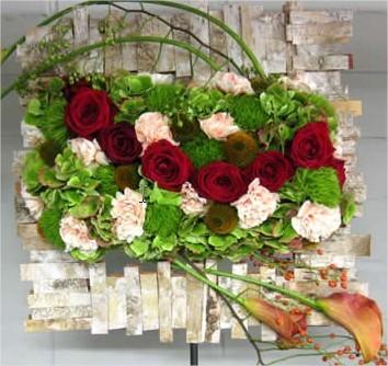 Herfstpalet steekschuim -frame -sheet -design -schors -water -materialen -callarsquos -green -rozen -hortensia -gaatjes -natuur -gelijkmatig -aanspannen -