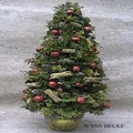 Decoratieve kerstboom