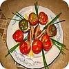 Tomaat garnaal en opgevulde paprika met kruidenkaas