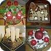 Adventsstukjes gemaakt door leden van het tuinadvies bloemschikforum