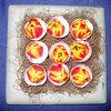 Pasen: paasnest met gevulde eieren met tulpen