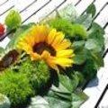 Tafelstuk met zonnebloemen