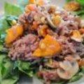 Paarse rijst + zoete aardappel