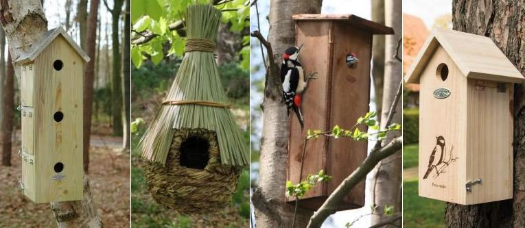 verschillende soorten nestkasten