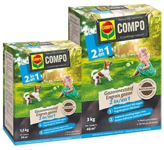 COMPO Gazonmeststof 2 in 1