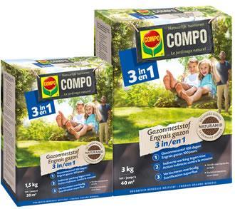 COMPO Gazonmeststof 3 in 1