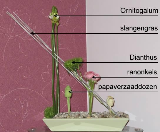 Bloemschikbenodigdheden voor deze bloemdecoratie