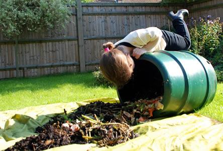 compostvat leegmaken