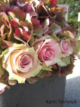 Zijkantafwerking bloemstuk