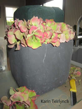 bloemschikken in potten