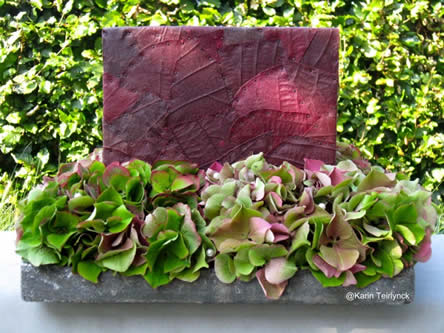 cobrablad en hydrangea bloemstuk