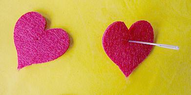 valentijn rode hartjes van 5 cm