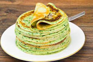 Kruidige groene pannenkoek