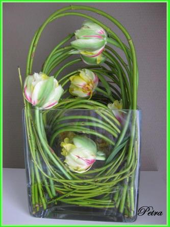 bloemschikken - klemmen van takken