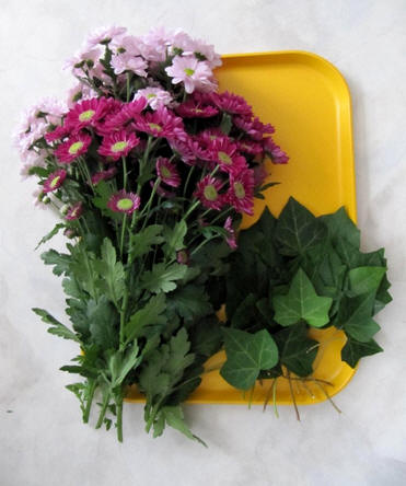 bloemstuk met chrysanten maken voor Allerheiligen