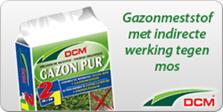 Gazonmeststof met indirecte werking tegen mos