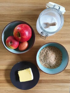 ingrediënten appelcake
