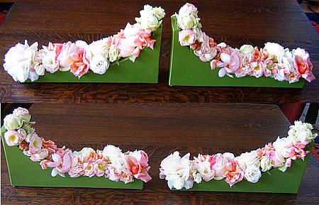 bloemschikken met rozen als tafeldecoratie