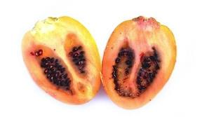 de vrucht van een tamarillo