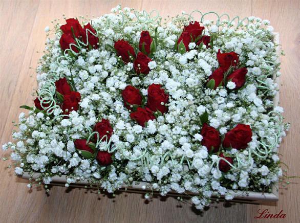 bloemschikken Valentijn met eenvoudig bloemstukje voor uw Valentijn