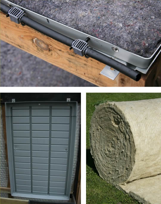 materialen bij de opbouw van een groene wand