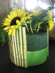 Bloemschikken met zonnebloemen