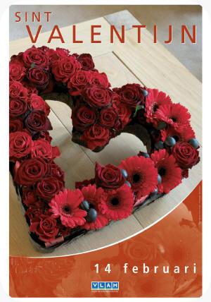 bloemschikken valentijn bloemstuk