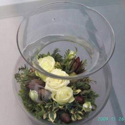 Glazen vaas opmaken