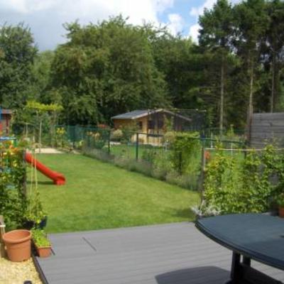 Bladhoudend groenblijvende tuinafscheiding