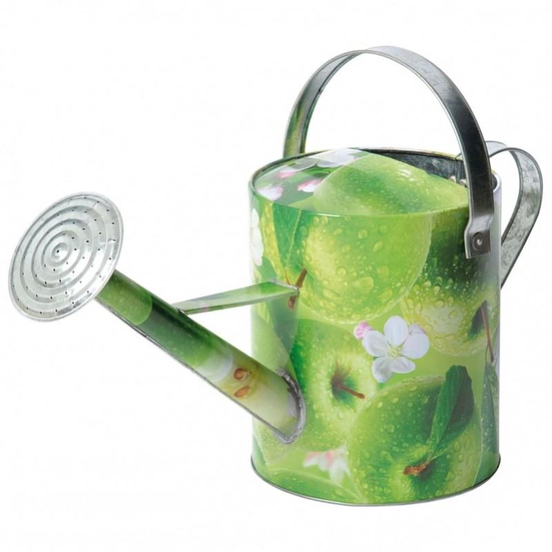 Verzinkte gieter met appelprint5 L