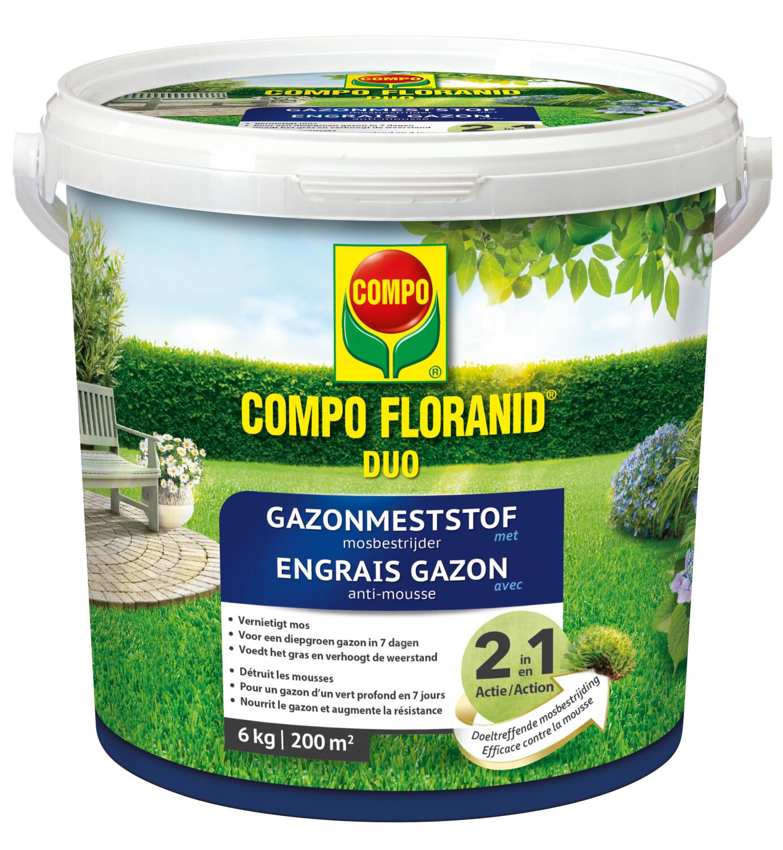 Floranid gazonmeststof met mosbestrijder 6 kg200m2
