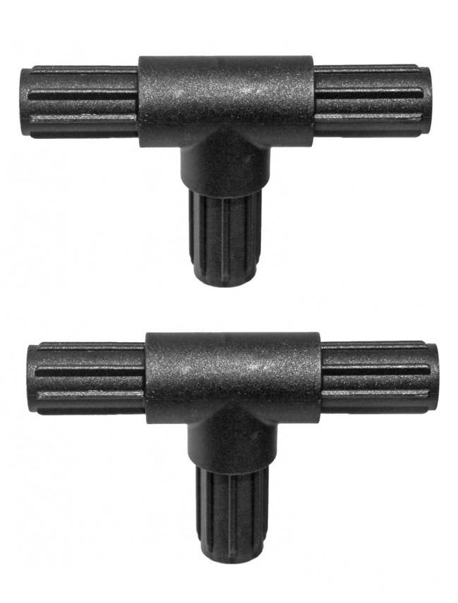 Tverbindstuk voor alu buizen met binnendiameter van 10 mm