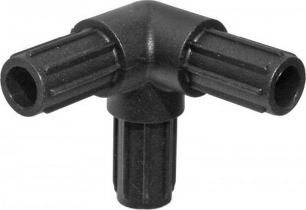 Hoekverbinding3 way 90graden voor aluminium buizen15 cm