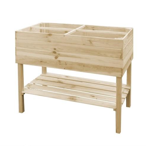Kweekbak verhoogdonbehandeld grenenhout 100 x 50 x 80 cm
