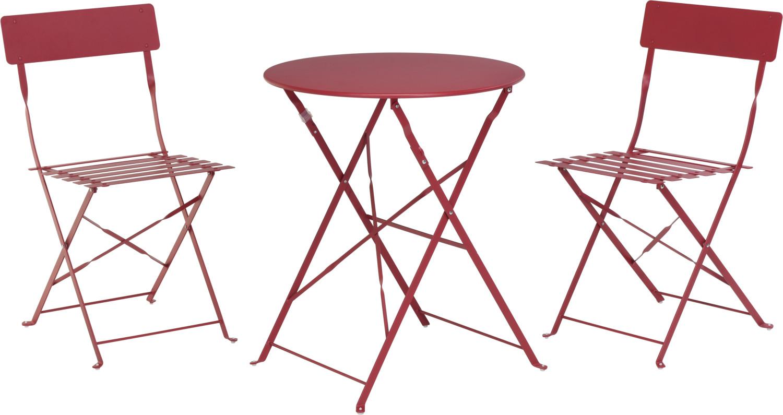 Bistroset Roodvouwtafel met vouwstoelen
