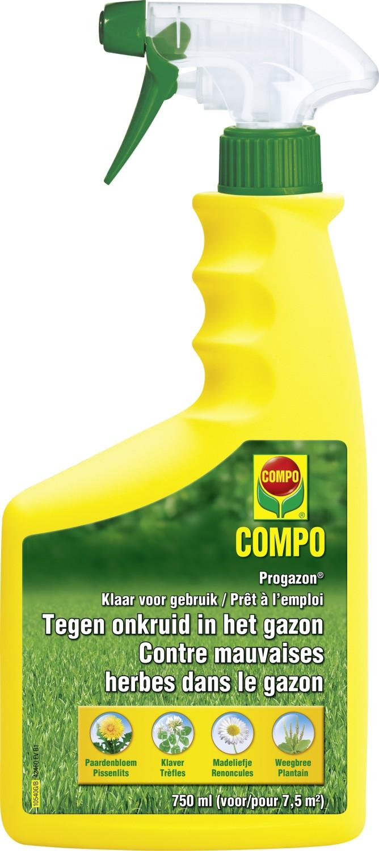 Progazon tegen onkruid in het gazonklaar voor gebruik