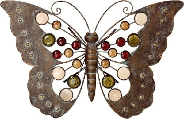 Vlinder muurfiguur met kralen