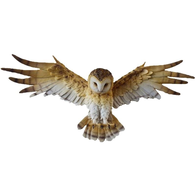 Uil met open vleugels muurdecoratie
