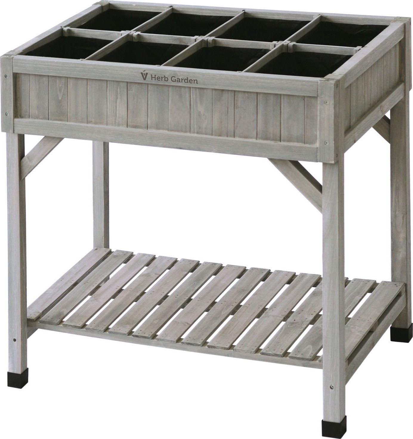 Plantentafelkruidentafel grijs