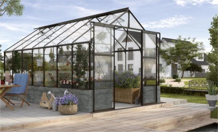Tuinkas Mercurius zwart opbouw 11500115 m2