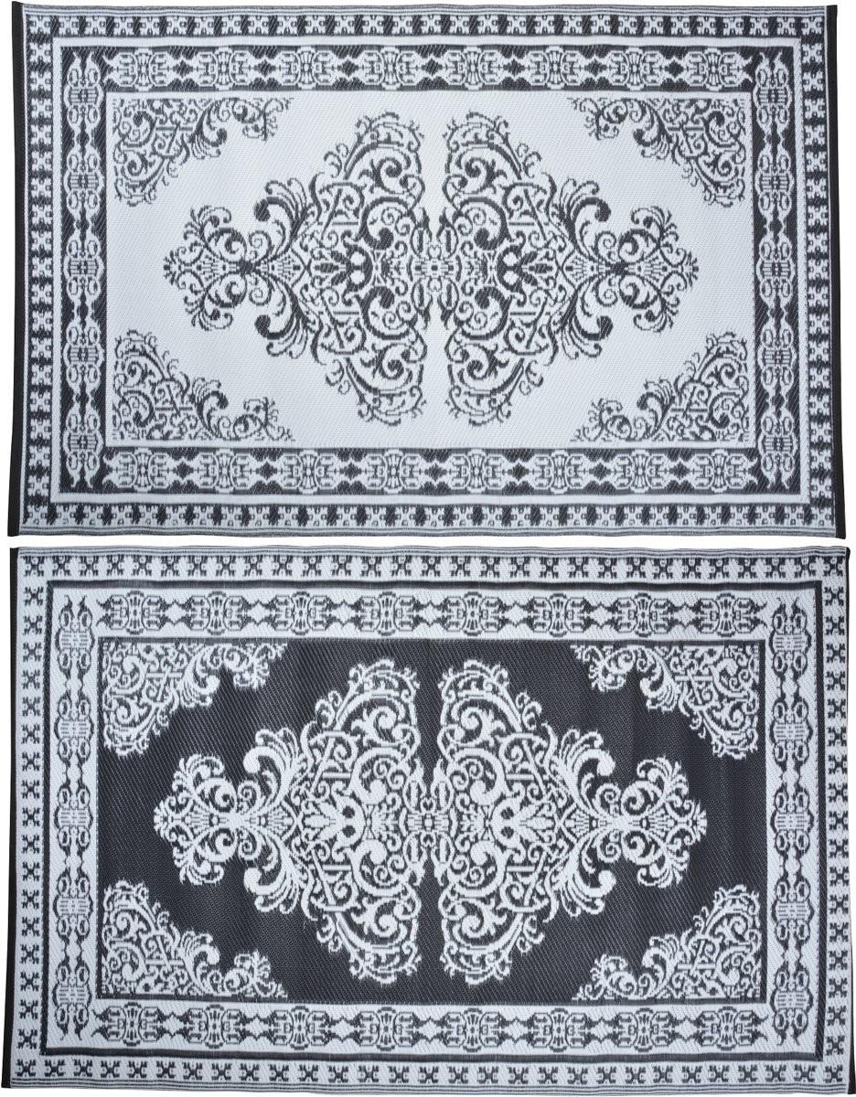 Tuintapijt Perzisch zwartwit 180 x 120cm