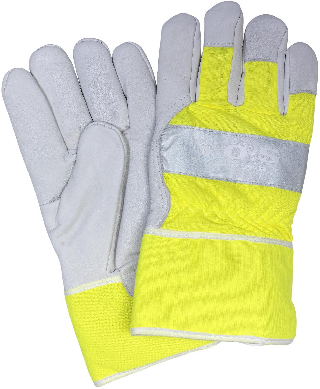 Werkhandschoenen geel